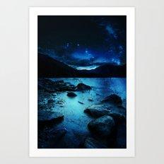 Magical Mountain Lake  Art Print