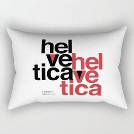 Suisse Swiss Helvetica Type Specimen Artwork in White Rectangular Pillow