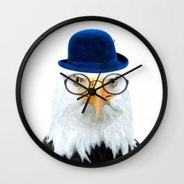 Funny Eagle Portrait Wall Clock