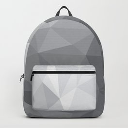 Gray Polygon Background Backpack