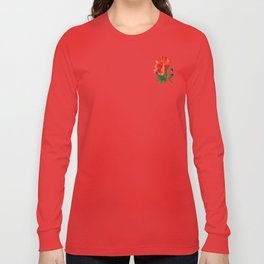 Red Darling Hibiscus Long Sleeve T-shirt