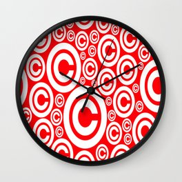 Vector Copyright Symbol Seamless nice idea for our products Wall Clock