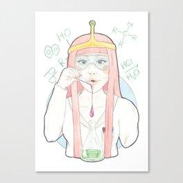 Princess Bubblegum // Watercolor and Pencil Illustration Canvas Print