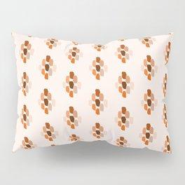 Brush Strokes Diamond Pattern In Terracotta Pillow Sham