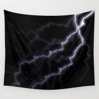 lightning Wall Tapestries featuring Lightning Strike by Brian Raggatt