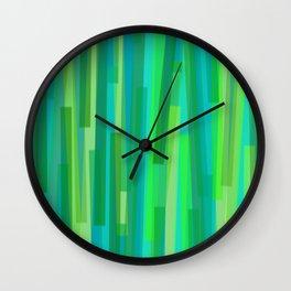 Geometric Green Painting Wall Clock