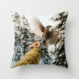 whiskey jack Throw Pillow