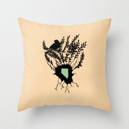Nevada - State Papercut Print Throw Pillow