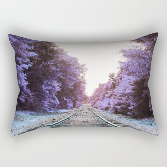 Train Tracks : Violet Blue Dreams Rectangular Pillow