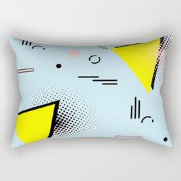 Memphis blue design Rectangular Pillow