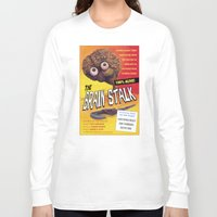 """movie posters Long Sleeve T-shirts featuring """"The Brain Stalk"""" Movie Poster by 7 Hells: Retro Horror art of Bill Rude"""