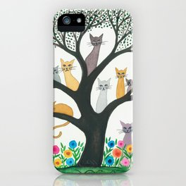 Cimarron Whimsical Cats iPhone Case