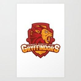 Hogwarts Quidditch Teams - Gryffindor Art Print