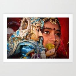 Indian eyes, Udaipur Art Print