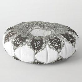 Astrology Signs Mandala Floor Pillow