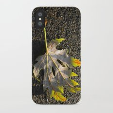golden maple leaf Slim Case iPhone X