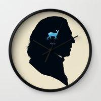 snape Wall Clocks featuring Always by Duke Dastardly