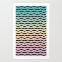 gradient Art Prints featuring Gradient. by Jake  Williams