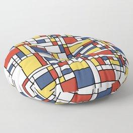 Mondrian De Stijl Pattern Floor Pillow