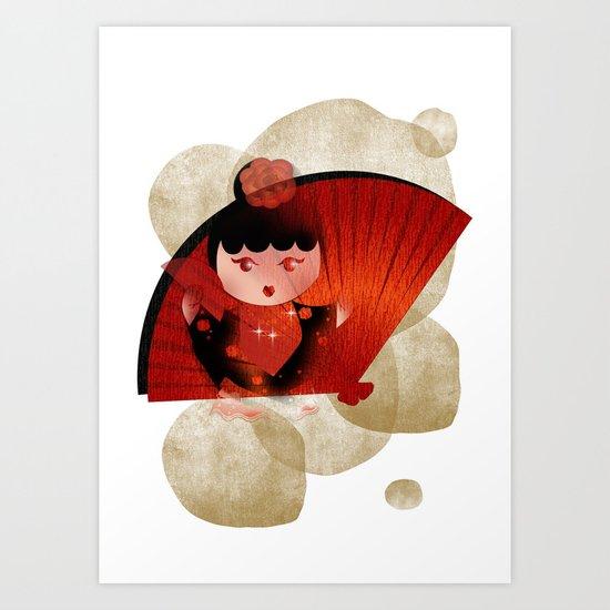 Papas y flamenco Art Print