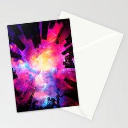 Abstract City Nebula Night Stationery Cards