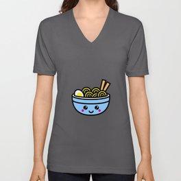 Kawaii Ramen Bowl Gift Idea Design Motif Unisex V-Neck