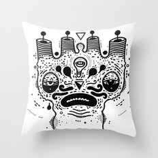 sad dood Throw Pillow