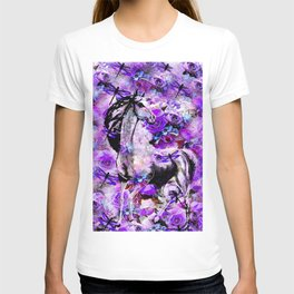HORSE ROSES DRAGONFLY IMPRESSIONS T-shirt