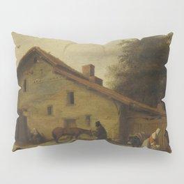 An Inn in the Neighborhood of Nantes, Lambert Doomer, 1640 - 1660 Pillow Sham