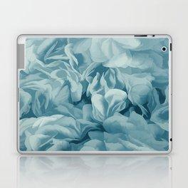 Soft Baby Blue Petal Ruffles Abstract Laptop & iPad Skin