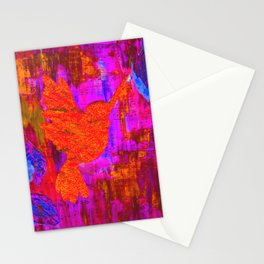 Humming Bird - Bright Red and Purple Stationery Cards
