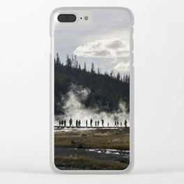 Yellowstone geyser Clear iPhone Case