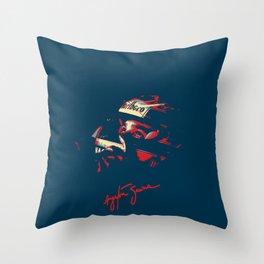 Ayrton Senna Tribute Design Throw Pillow