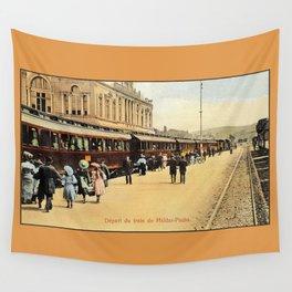 1900s Haydarpasa railroad station, train Wall Tapestry