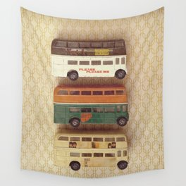 Fab Four Toy Buses Wall Tapestry