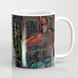 The Church, midnight cityscape painting by Edith Desternes Coffee Mug