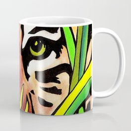 Tiger Eyes Looking Through Tall Grass By annmariescreations Coffee Mug