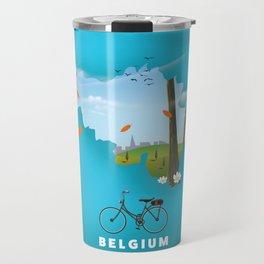 Belgium Map travel poster Travel Mug