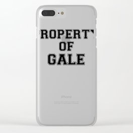 Property of GALE Clear iPhone Case