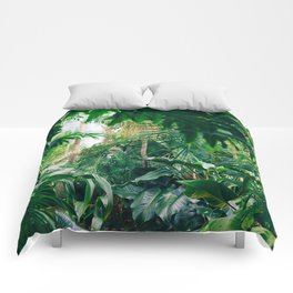 Greenery Jungle (Color) Comforters