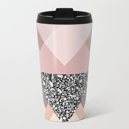 Geometric Textures 9 Metal Travel Mug
