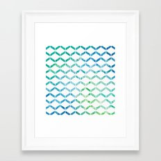 Marine Geometric Framed Art Print
