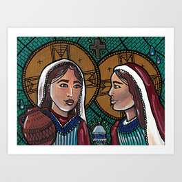 Martha and Mary Art Print