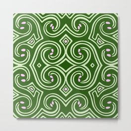 Svortices (Green) Metal Print
