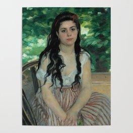 """Auguste Renoir """"En été - La bohémienne (In summer - Gypsy woman)"""" Poster"""