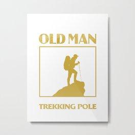 Old Man Trekking Metal Print
