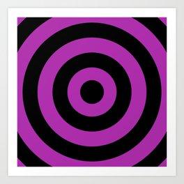 Target (Black & Purple Pattern) Art Print