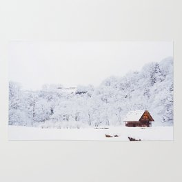 Cabin in the Snow (Color) Rug