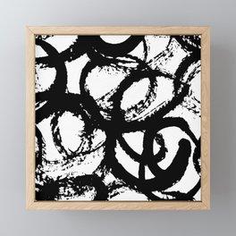 Dance Black and White Framed Mini Art Print