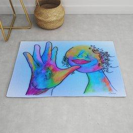 ASL Mother in Blue Overtones Rug